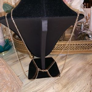 Long layered gold necklace NWOT